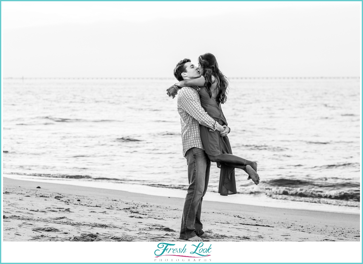 black and white romantic photo