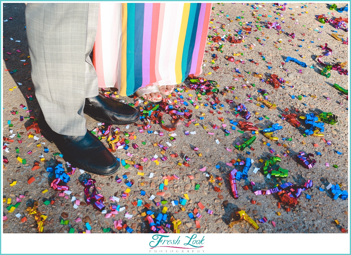 confetti engagement session