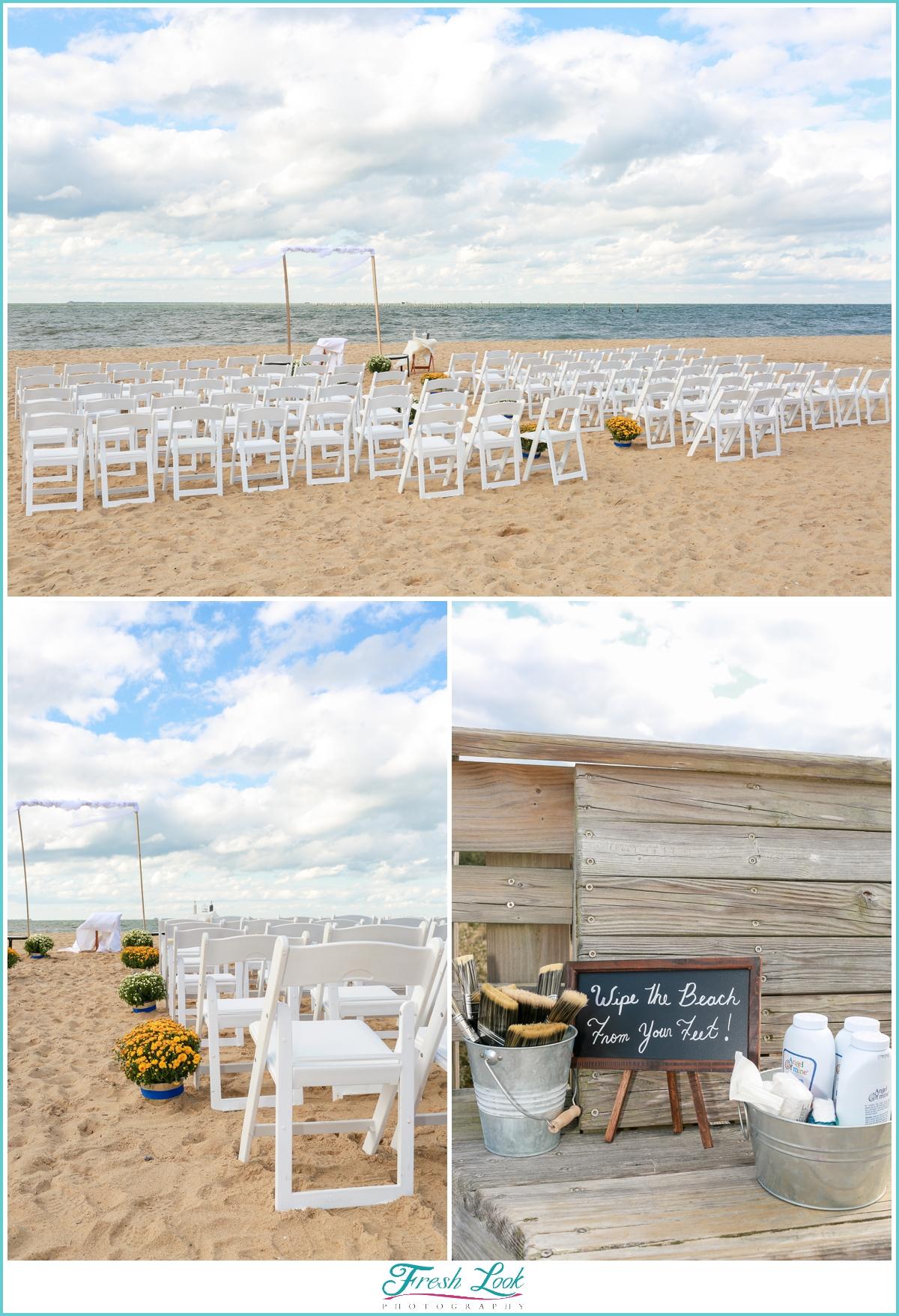 First Landing Beach Wedding Ceremony