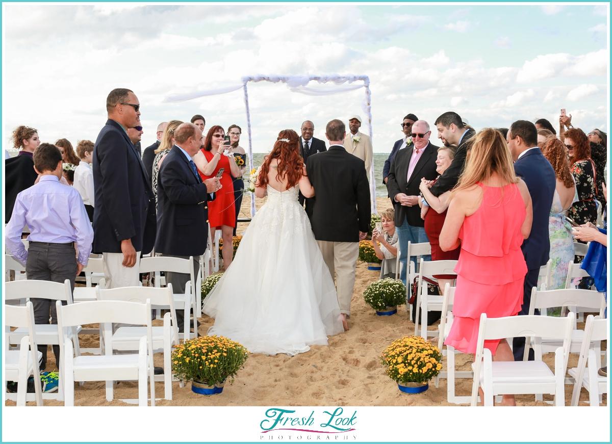 bride entering the wedding