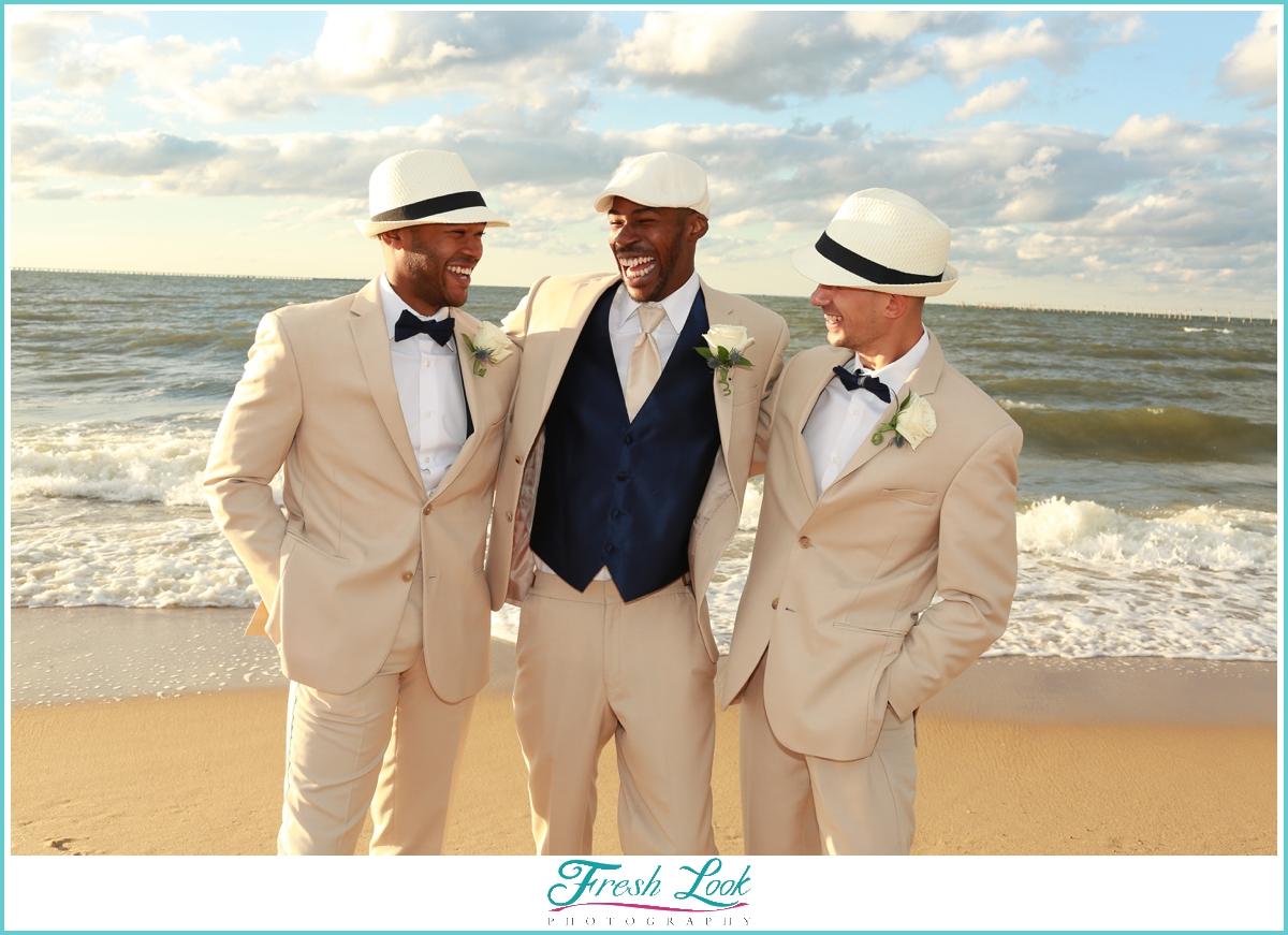 groomsmen cracking up