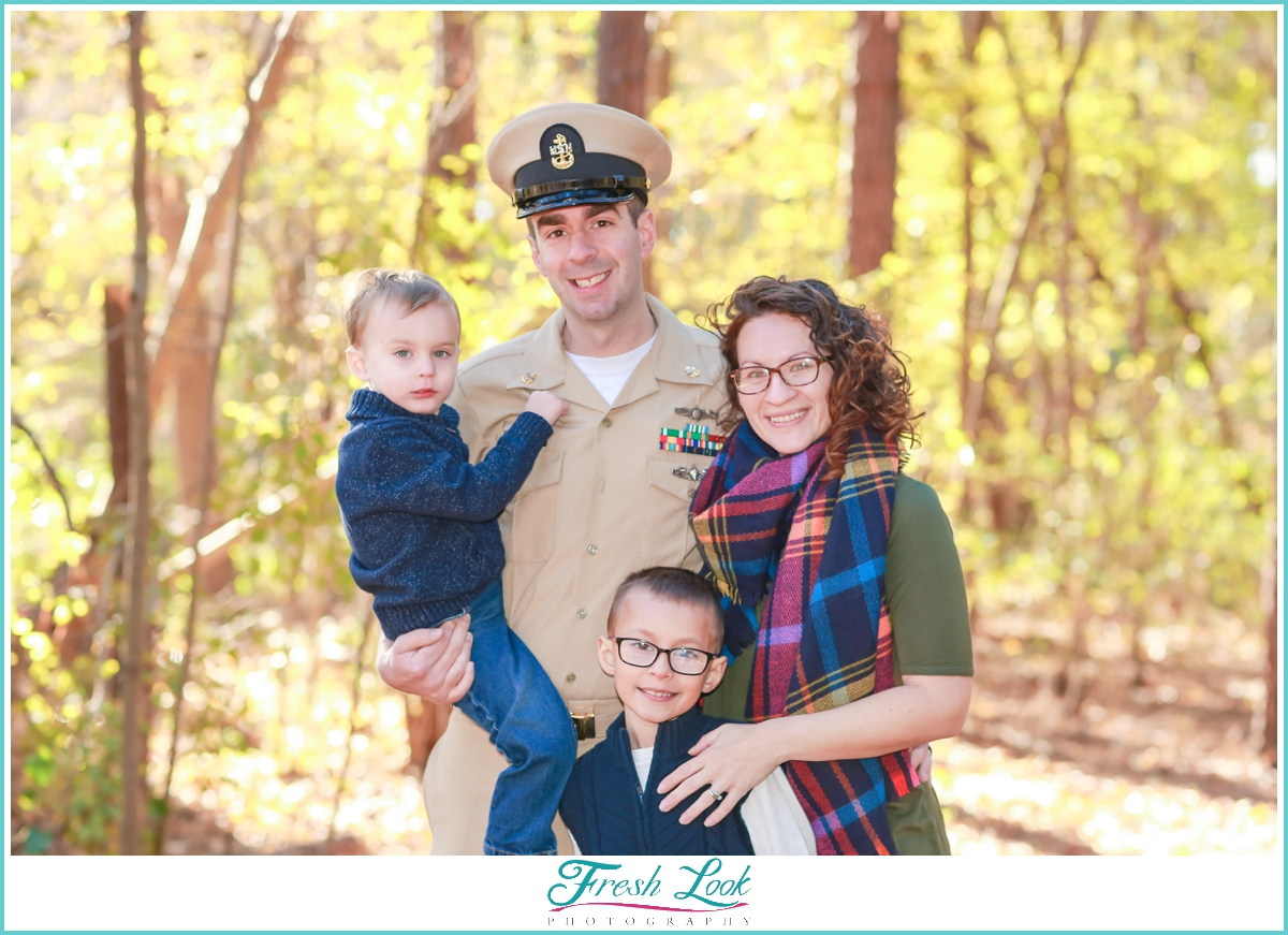 Military family photo shoot