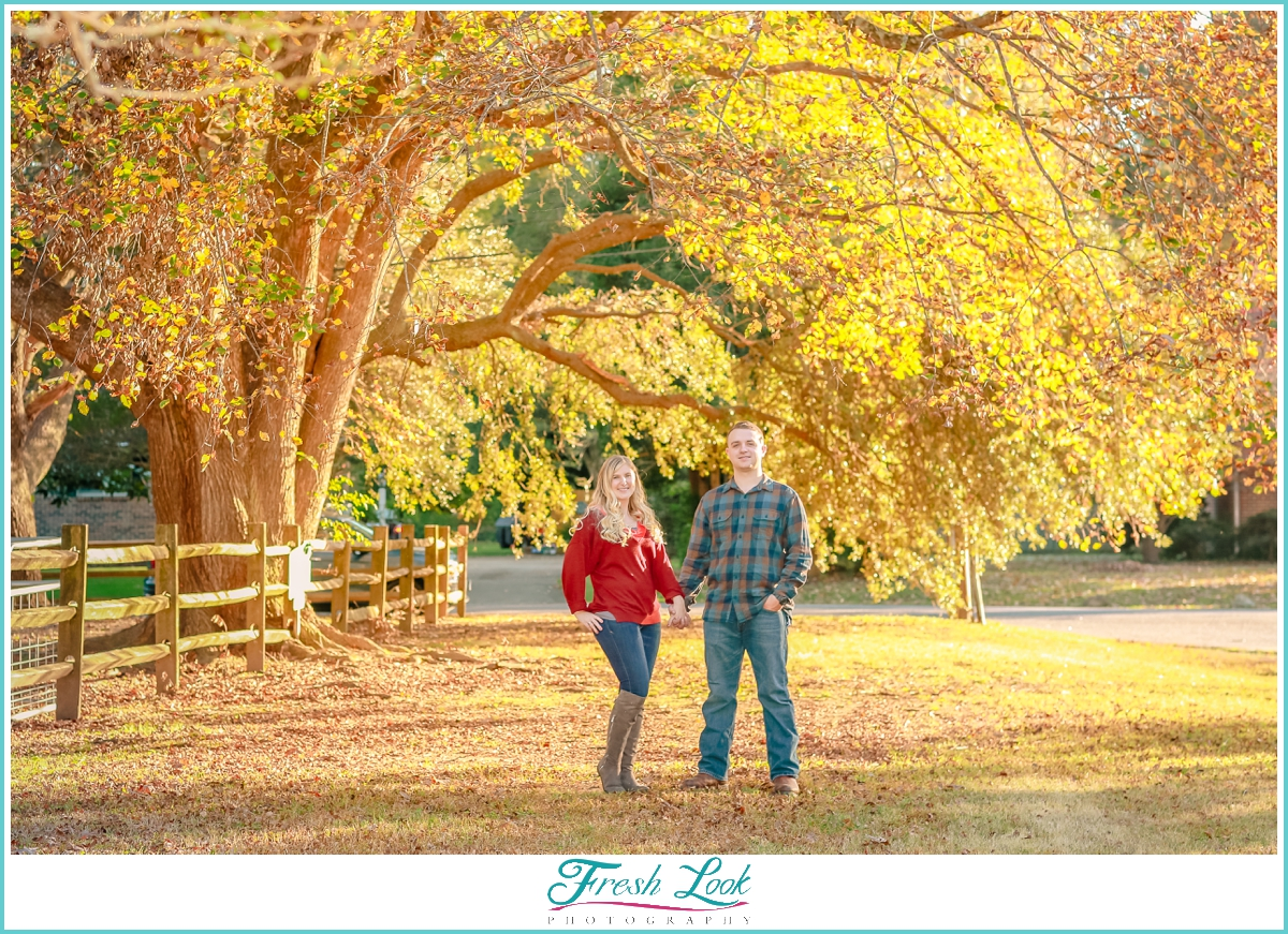 fall engagement session photo shoot