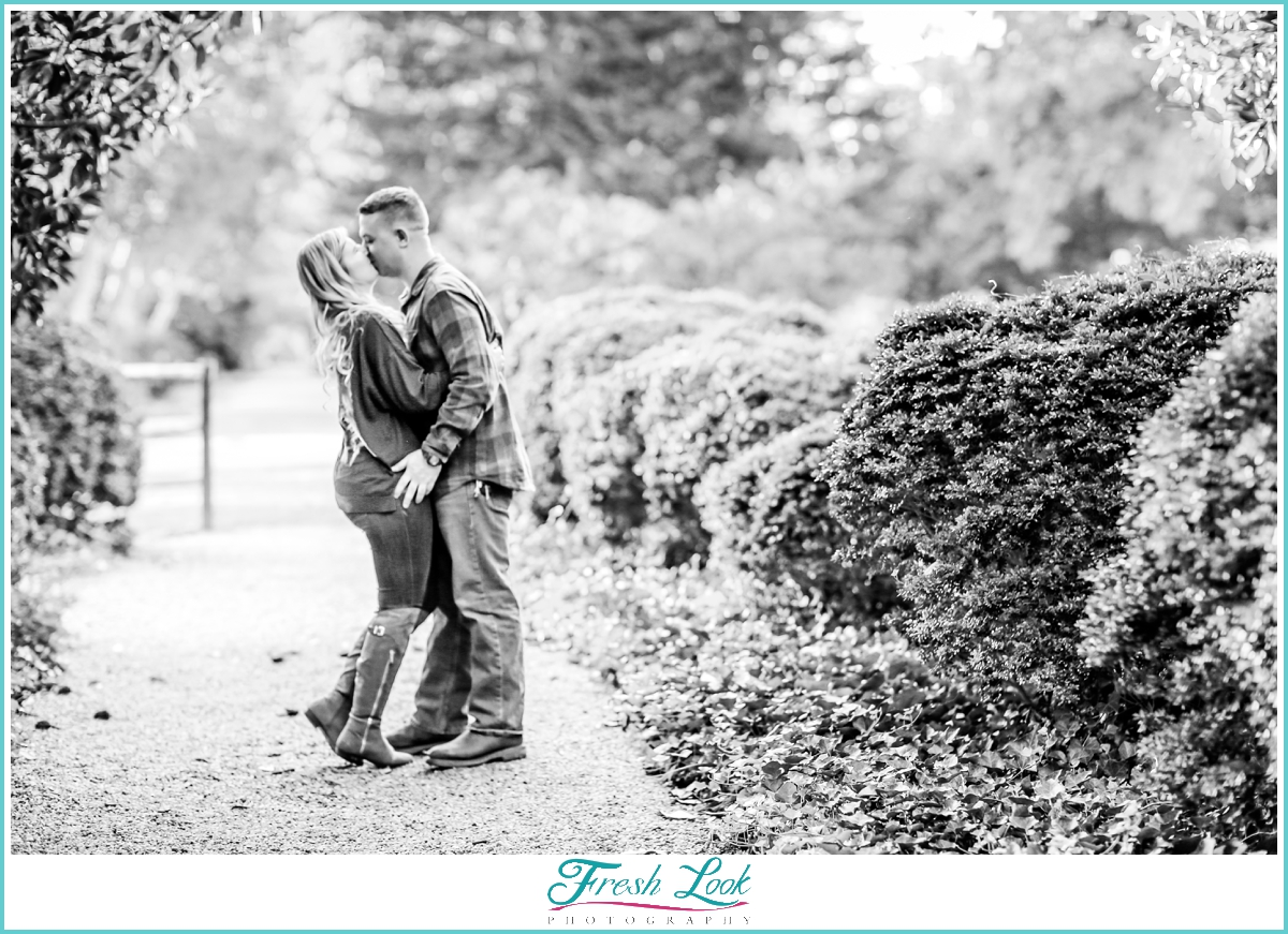 dancing together at the engagement session