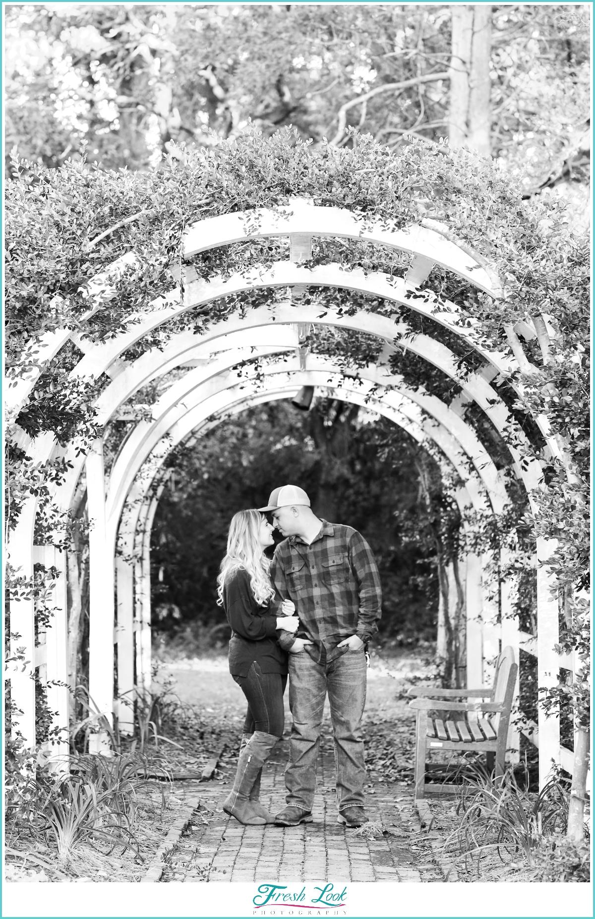 black and white romantic photo