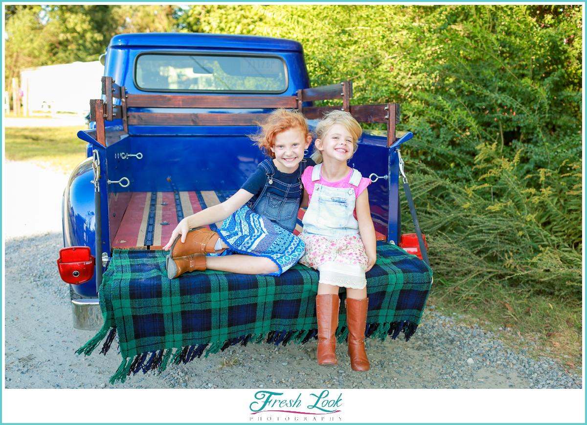 vintage truck Christmas photo