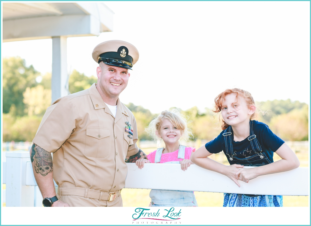 photos with military dad