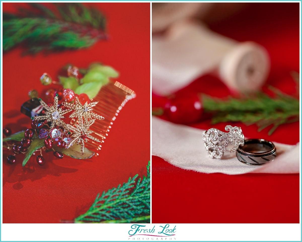 Christmas wedding jewelry