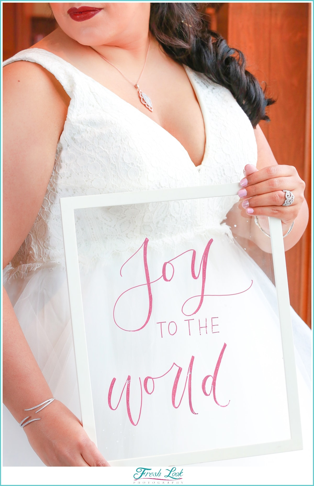 Joy to the World calligraphy sign