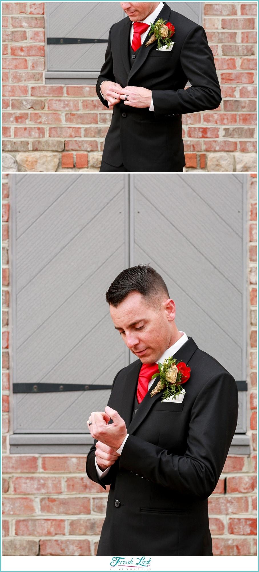 groom posing ideas