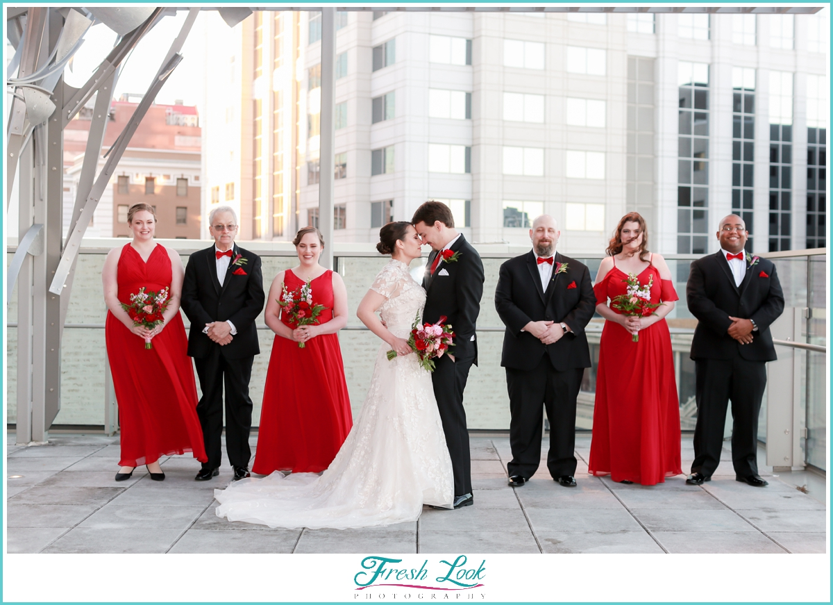 romantic bridal party portraits