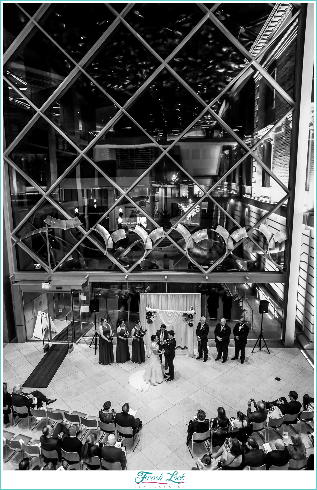 Slover Library wedding ceremony