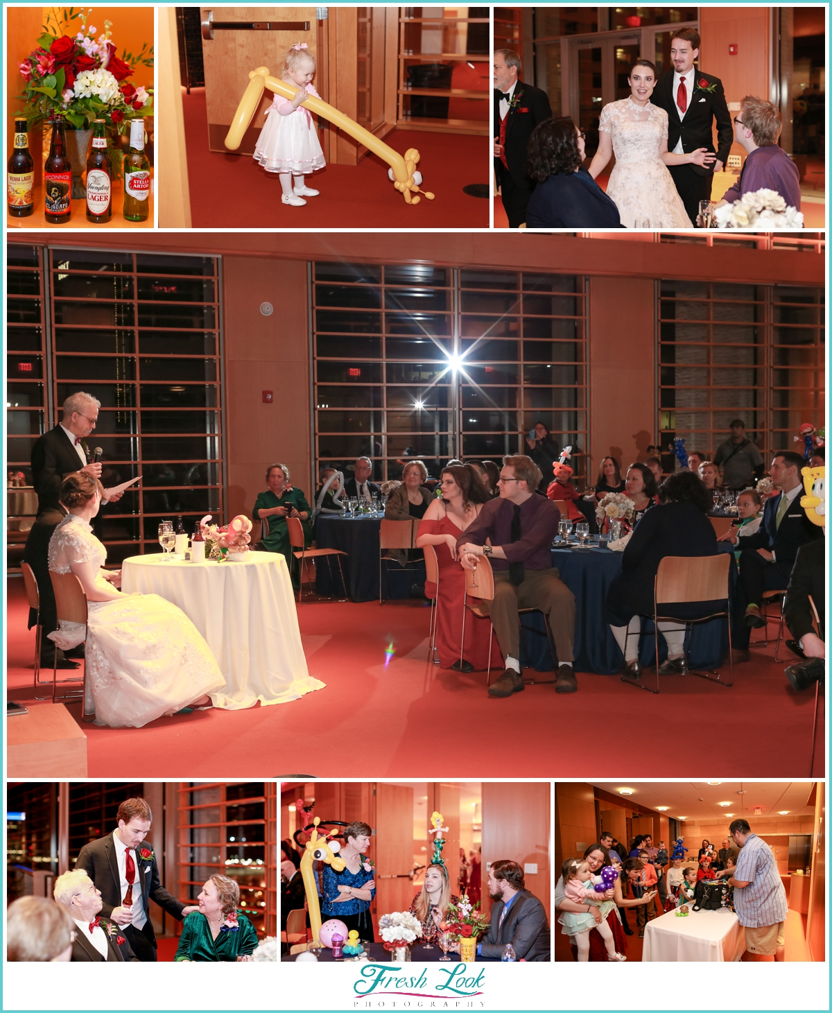 library wedding reception