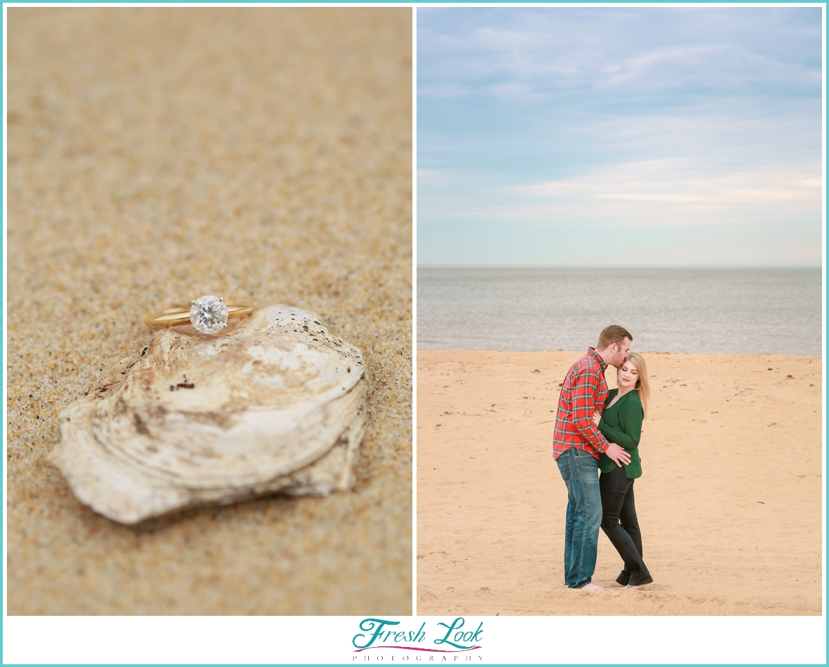 beachy engagement session