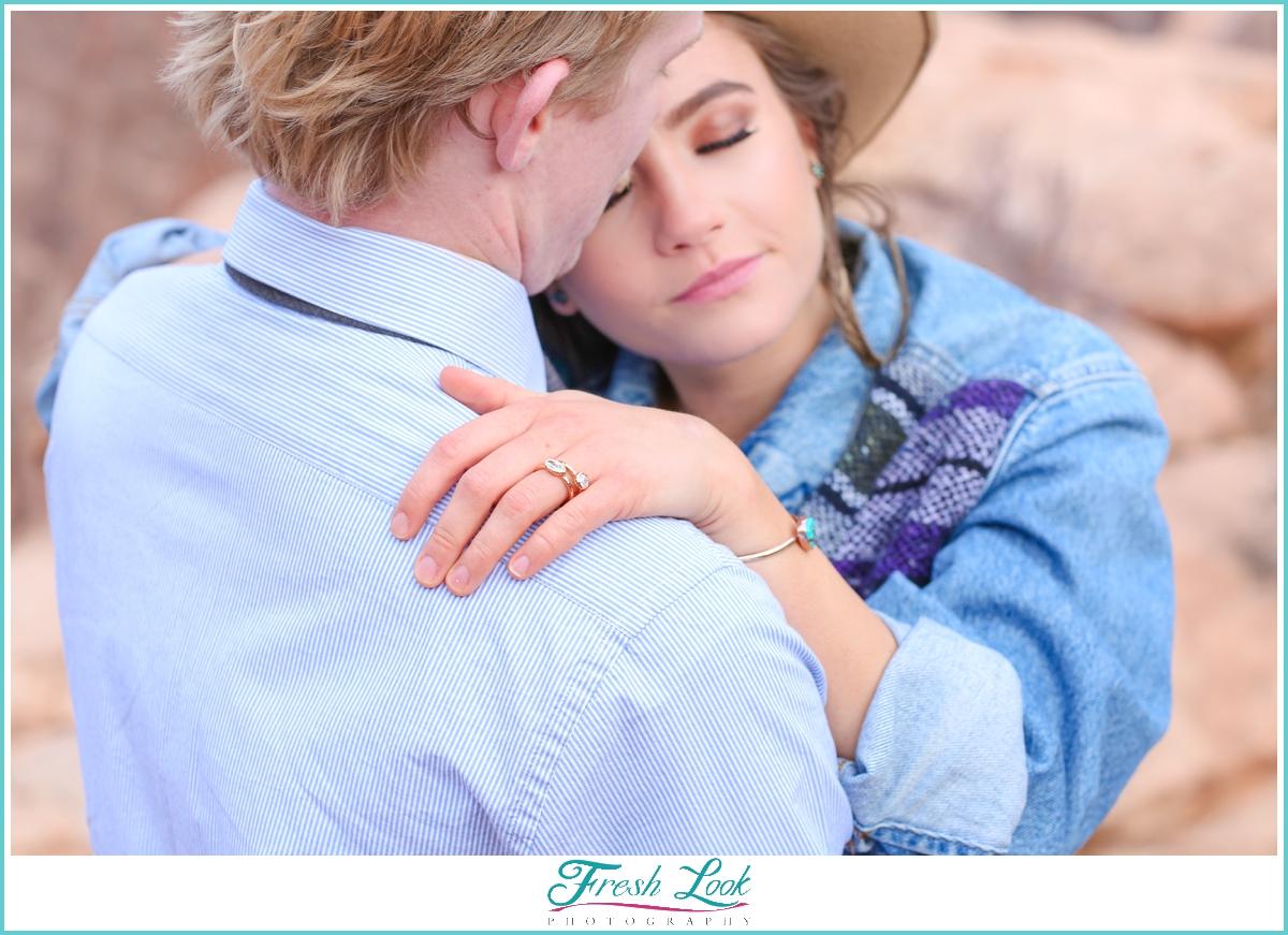 romantic couples engagement session