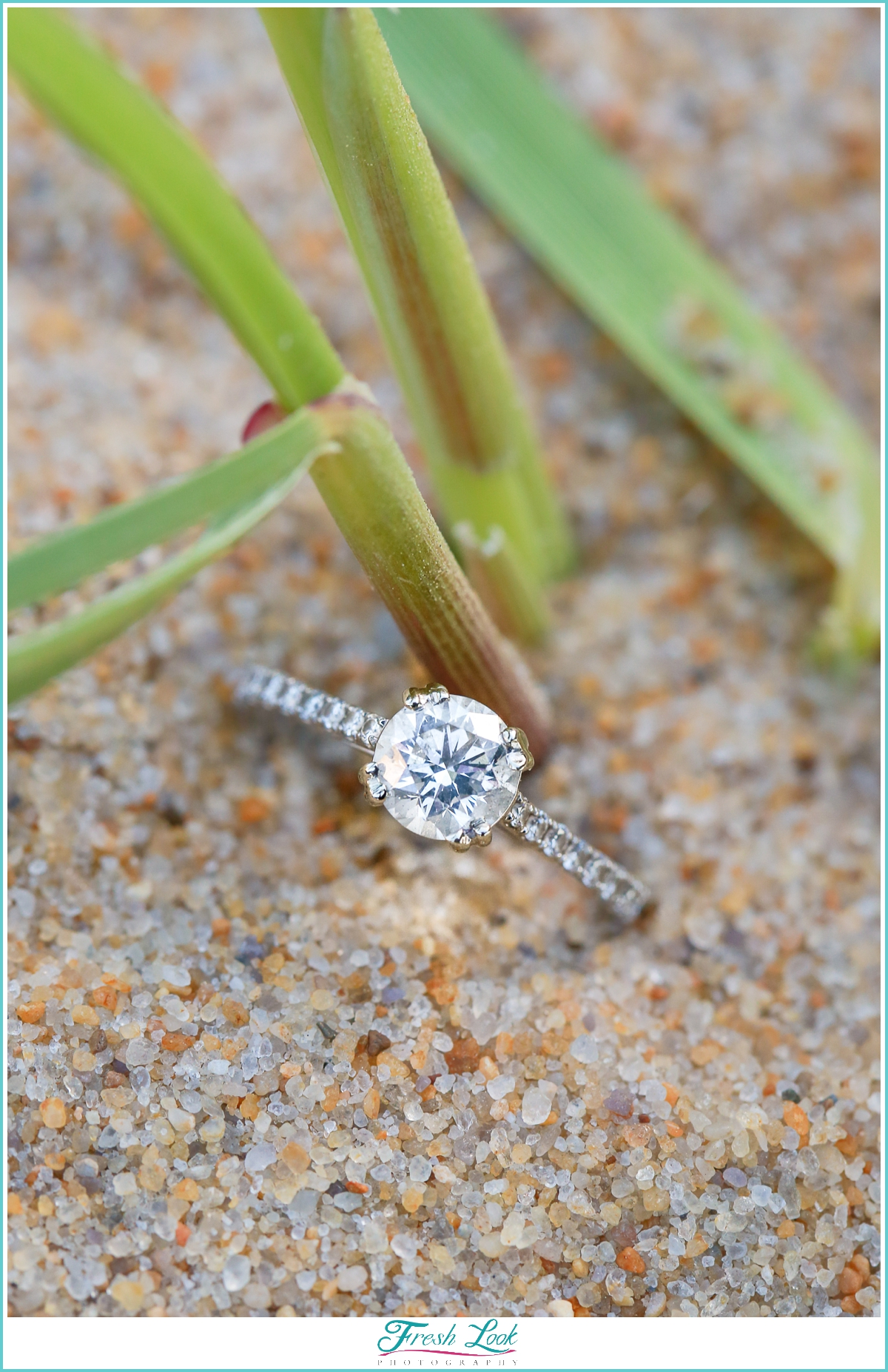 beach themed engagement ring