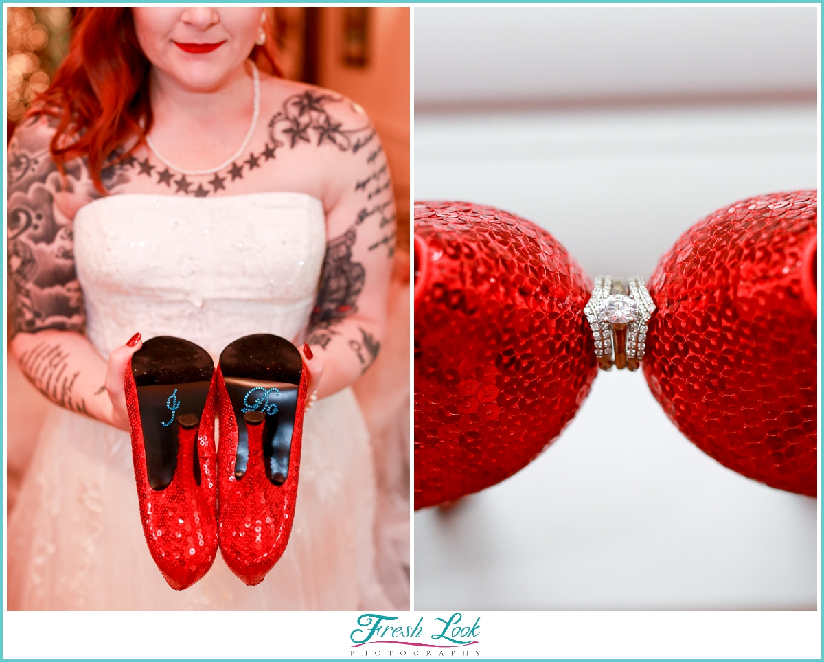 I do wedding shoes and ring