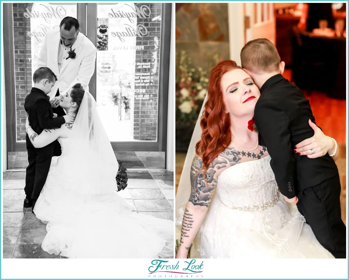 emotional bride after the wedding