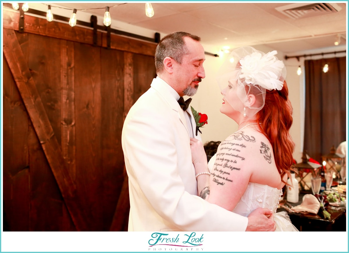 romantic first dance at the reception