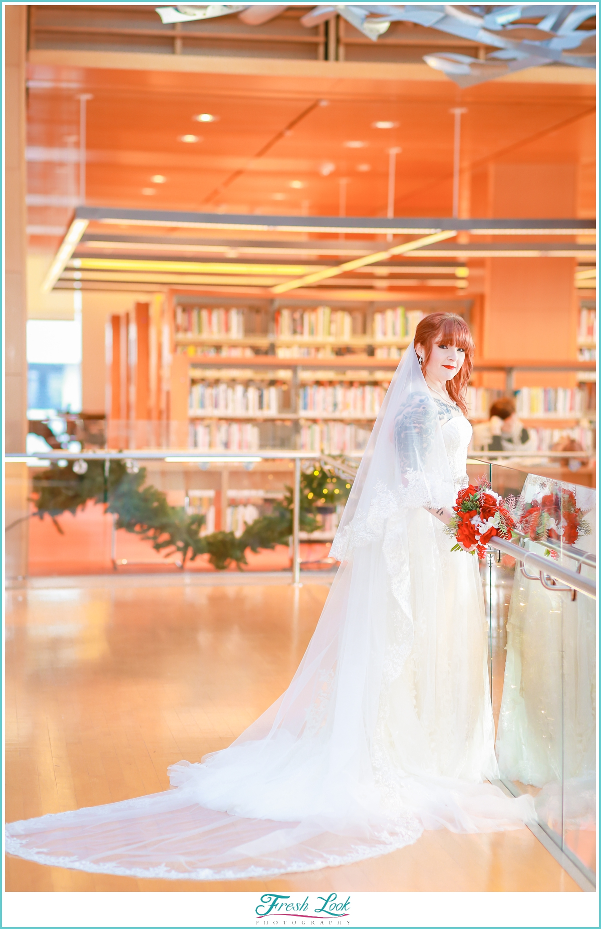 Slover Library wedding photos