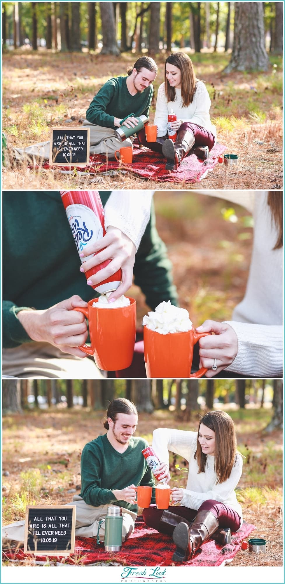 making hot chocolate together