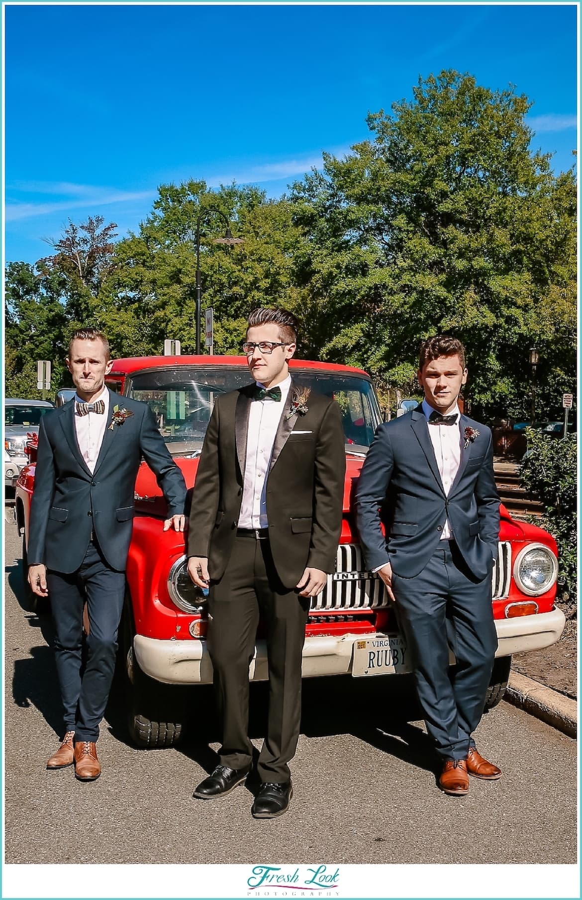 cool groomsmen posing ideas