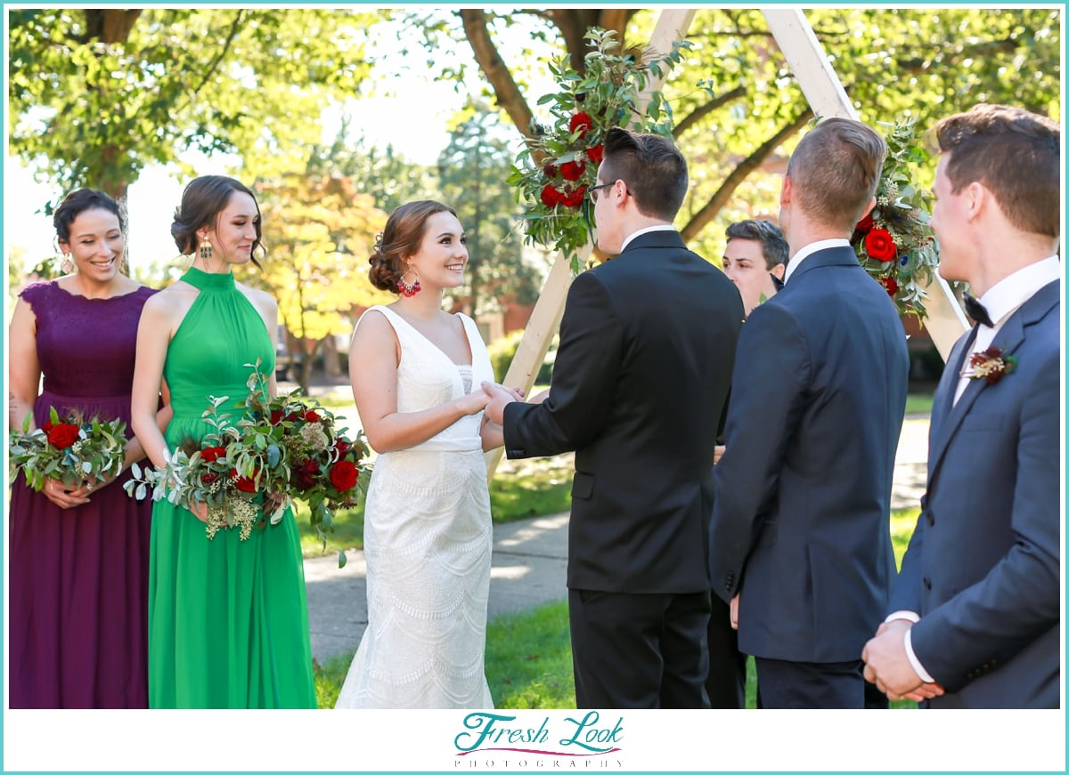 Ashland VA outdoor wedding ceremony