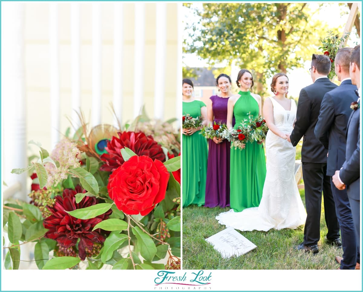outdoor wedding ceremony details