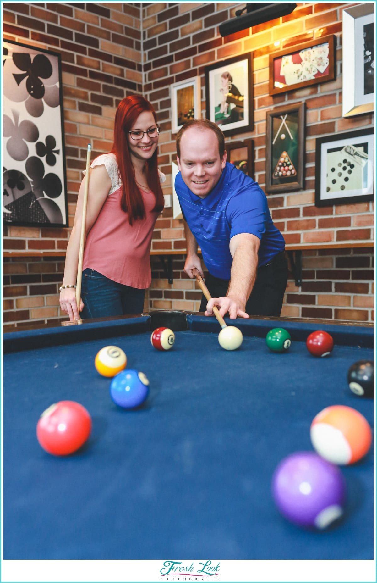 fun pool engagement photos