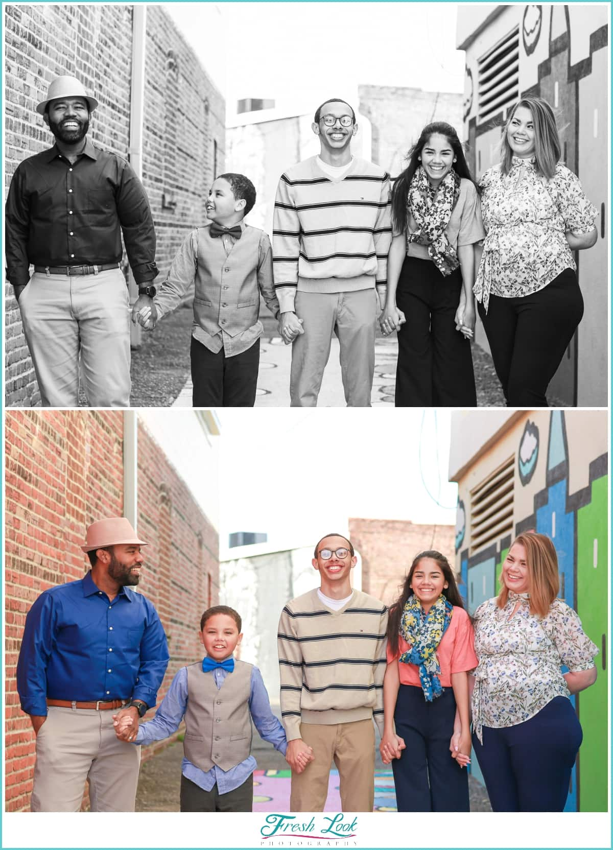 family of five photoshoot