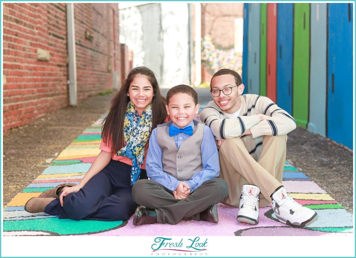 three kids photo shoot