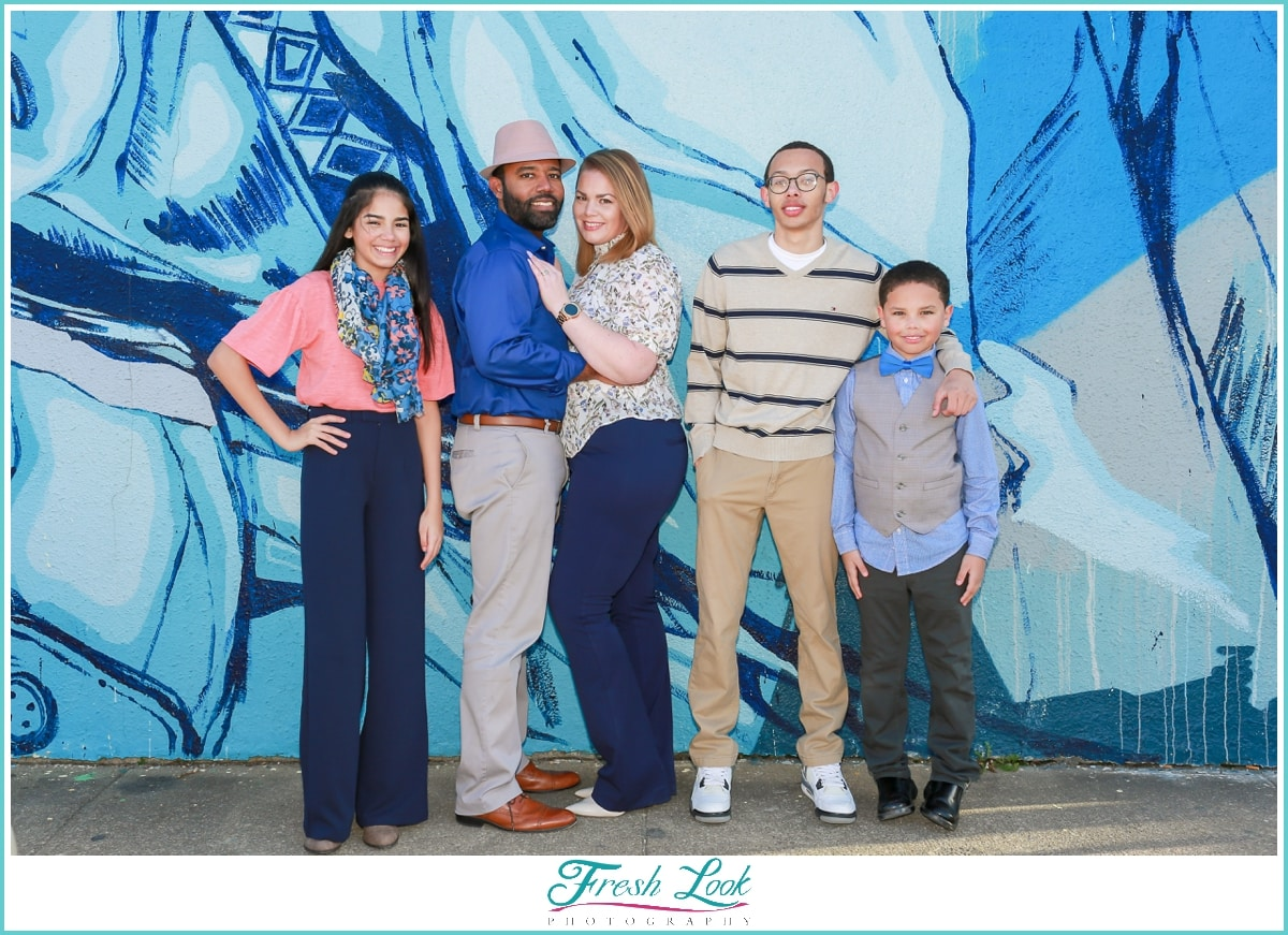 family photos in downtown Norfolk