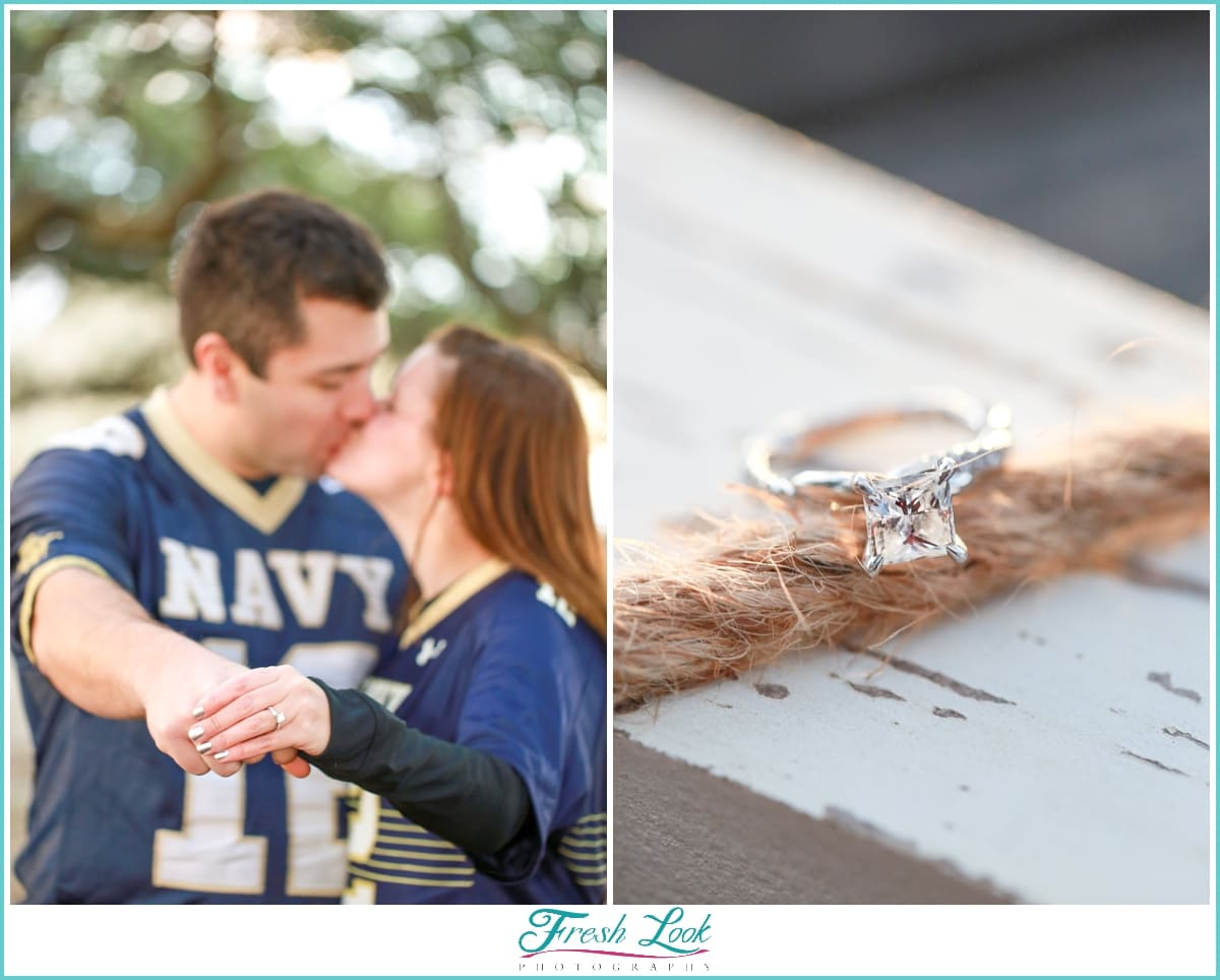Navy pride engagement session