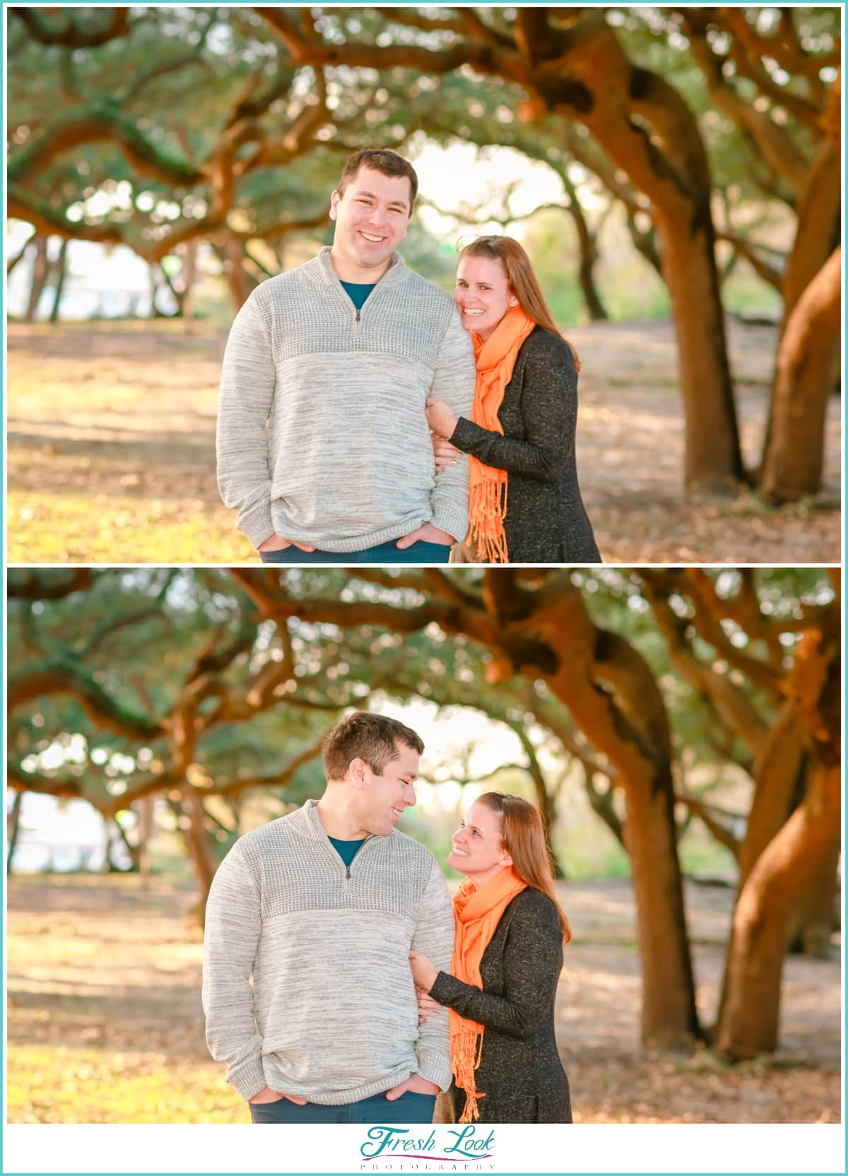 live oaks engagement session