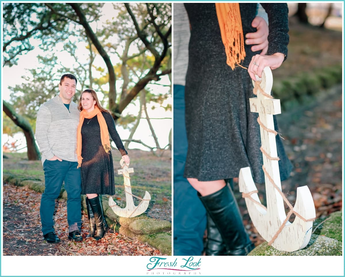 Nautical themed engagement session