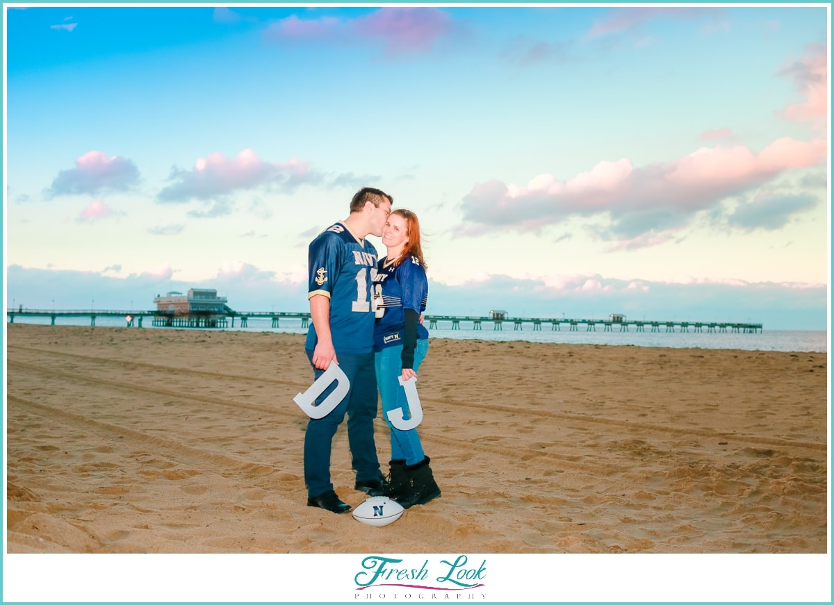 beachy sunset engagement session