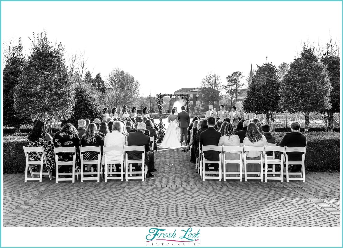 Outdoor Winter Wedding at Founders Inn