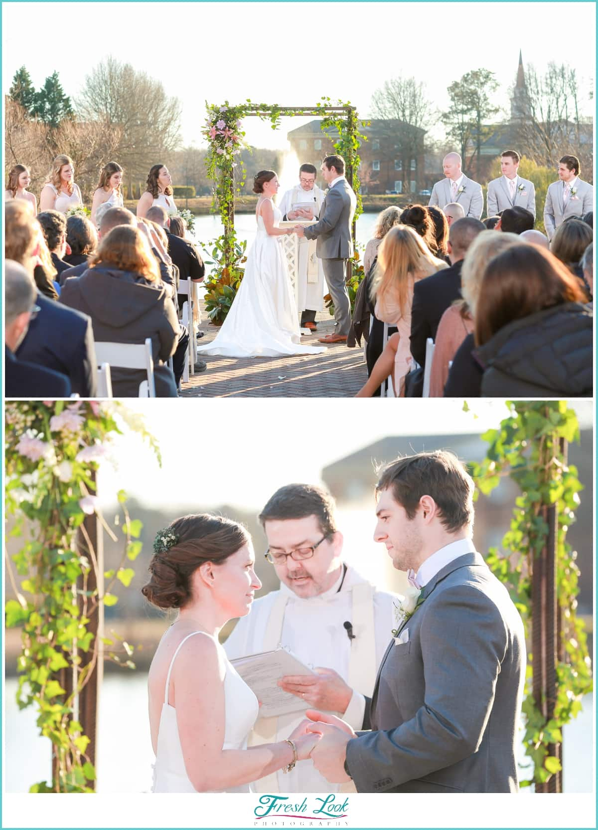 Outdoor Wedding Ceremony at Founders Inn