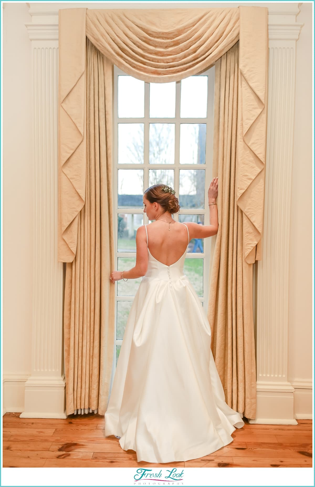 Beautiful bridal portrait at Founders Inn