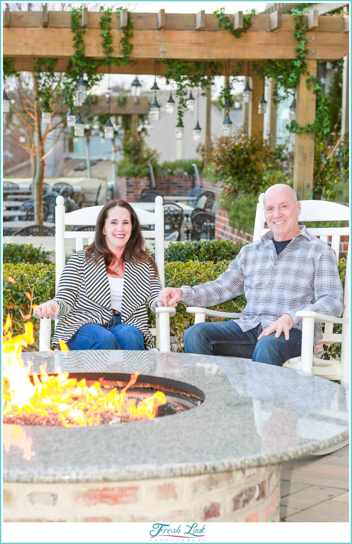 Outdoor by the firepit photos
