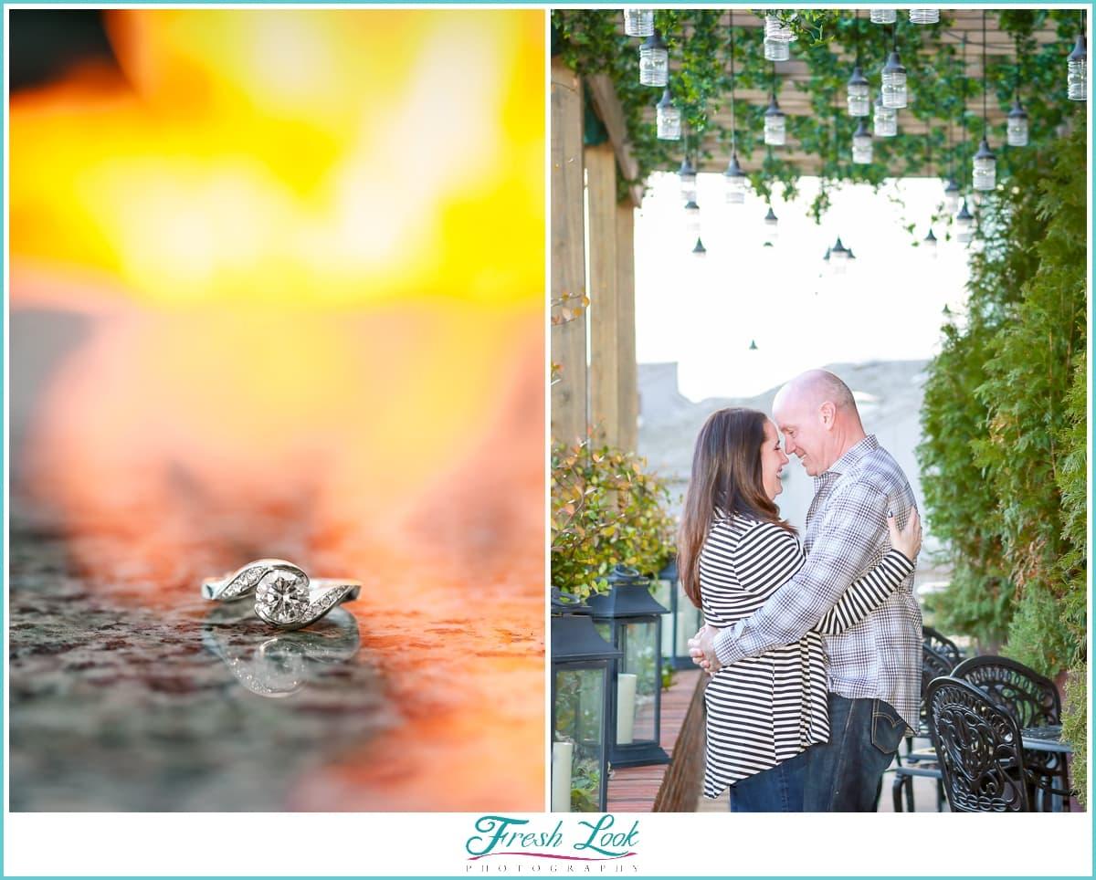 Romantic Virginia Beach engagement photos