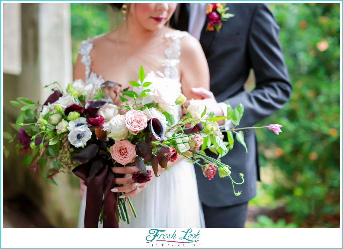 spring wedding bridal bouquet