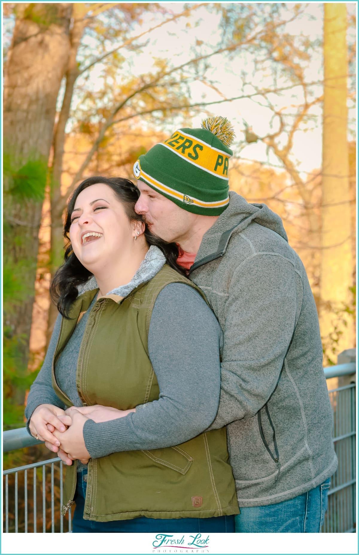 romantic engagement shoot photos