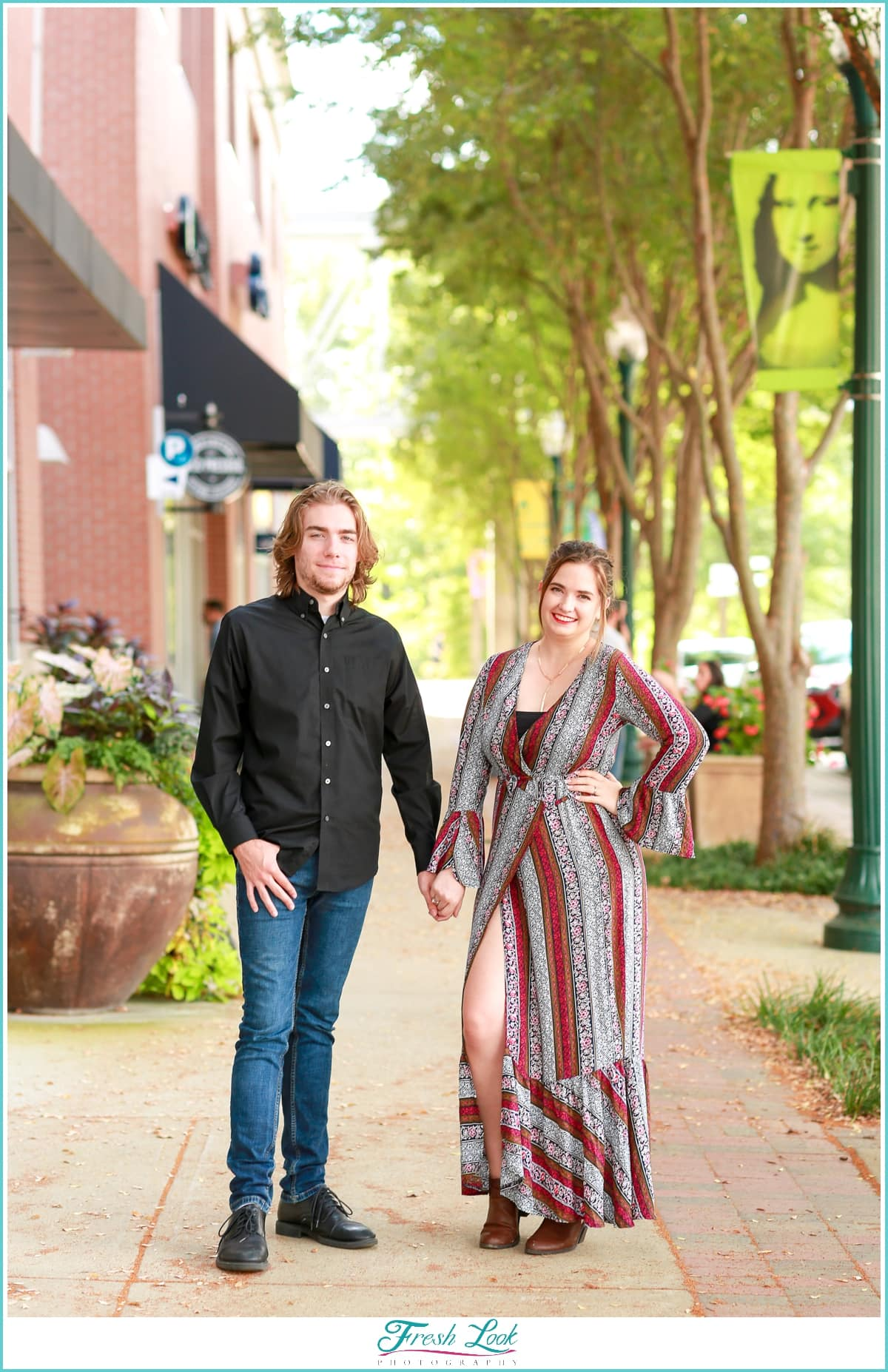 Town Center Virginia Beach Couples Session