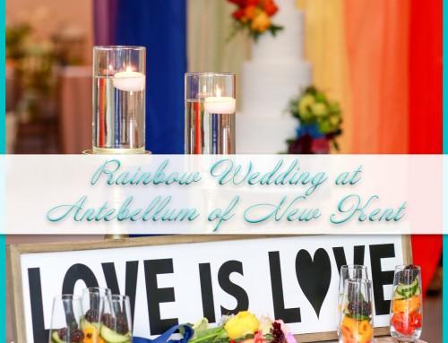 Rainbow Wedding   Antebellum of New Kent   Shannon+Beth