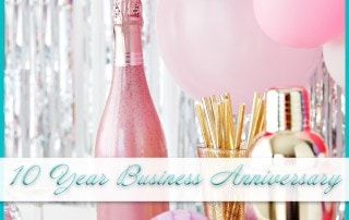 Celebrating 10 year business anniversary
