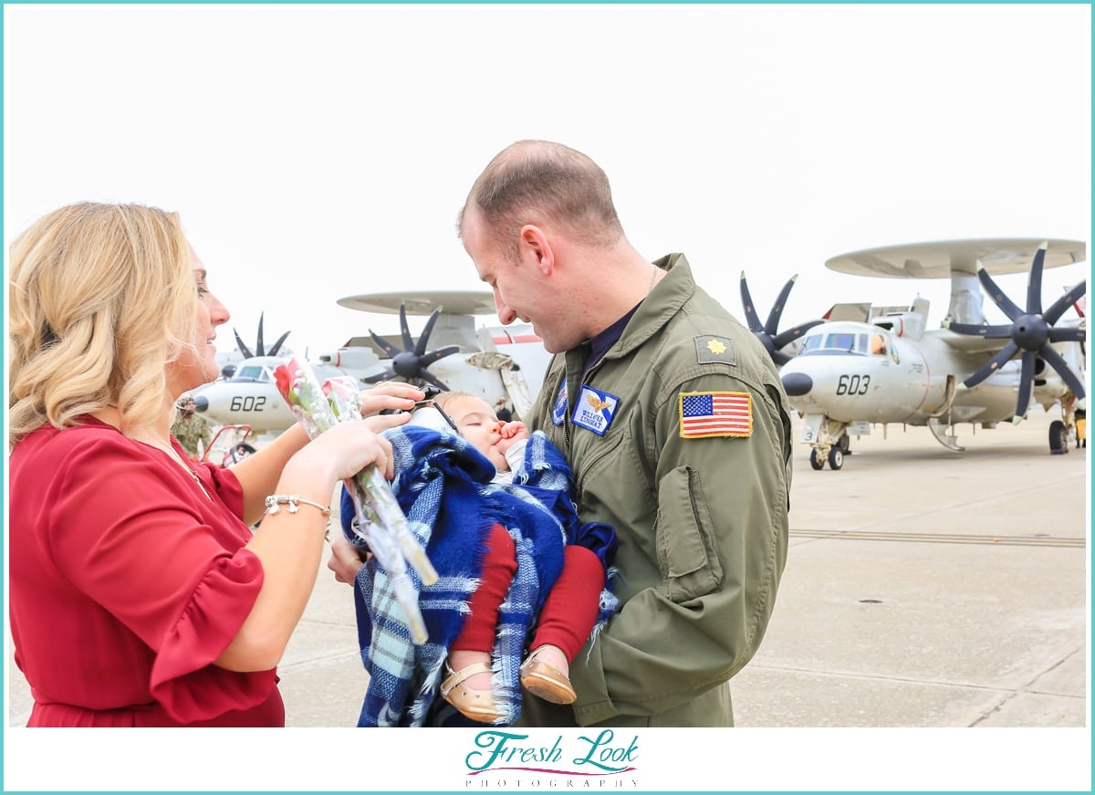 military homecoming on Norfolk Naval Base