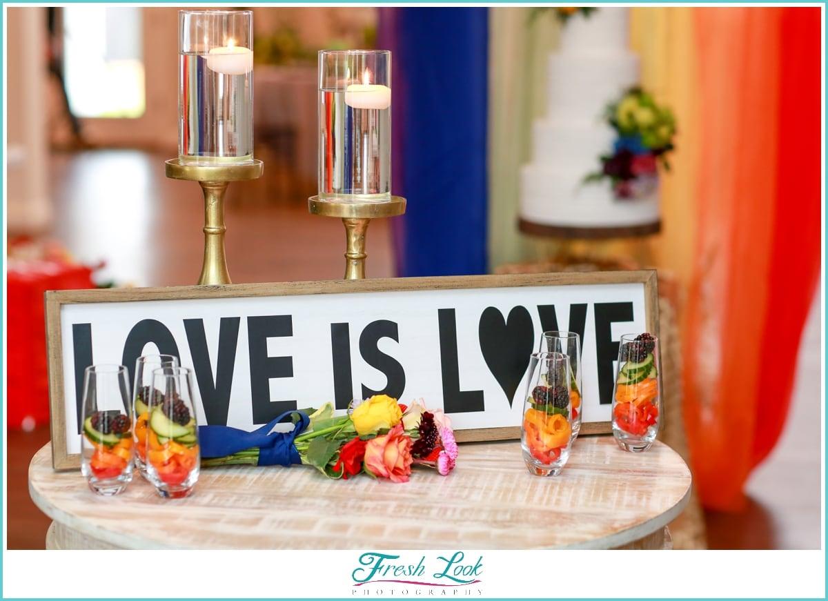 love is love rainbow wedding