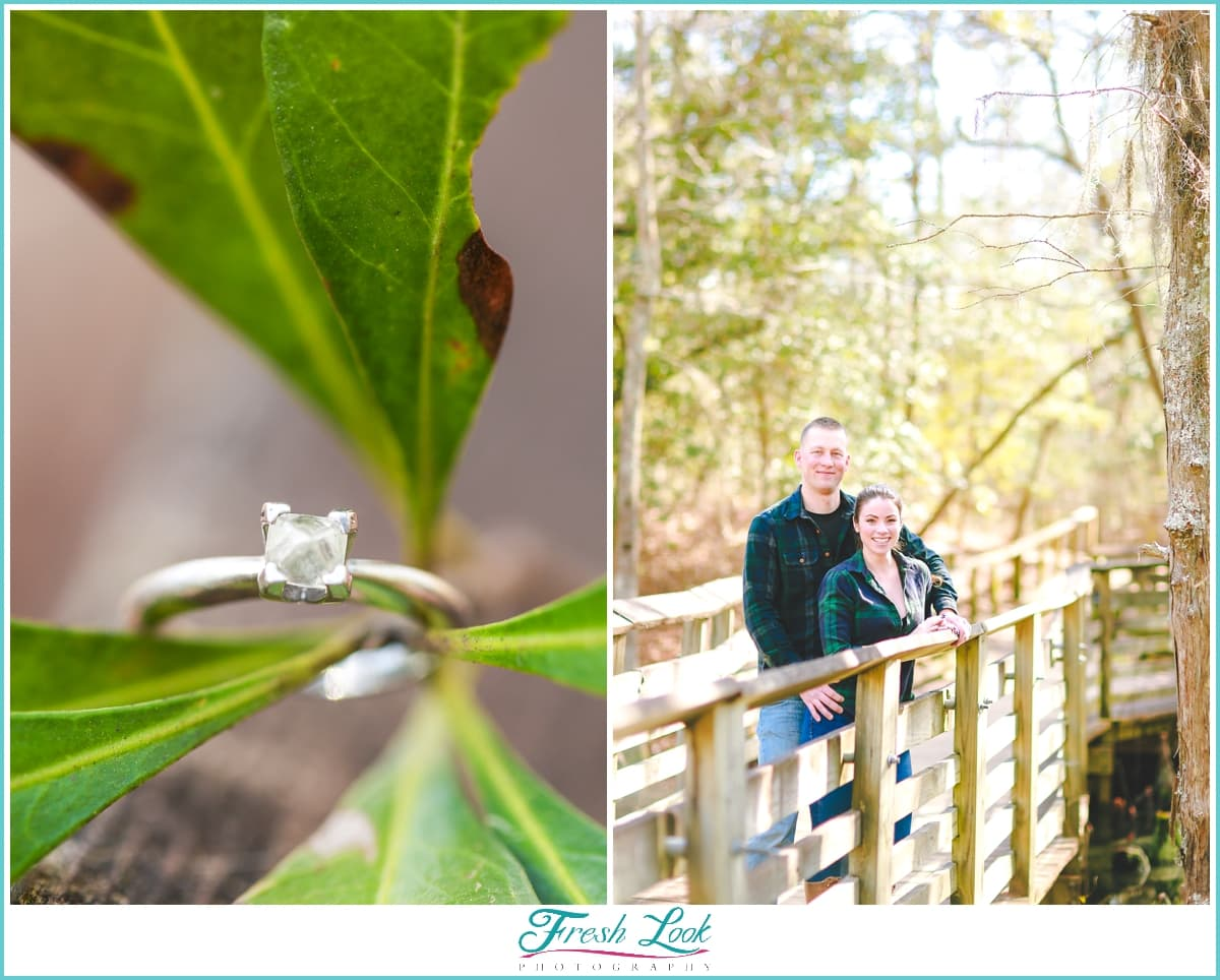 woodsy engagement photoshoot