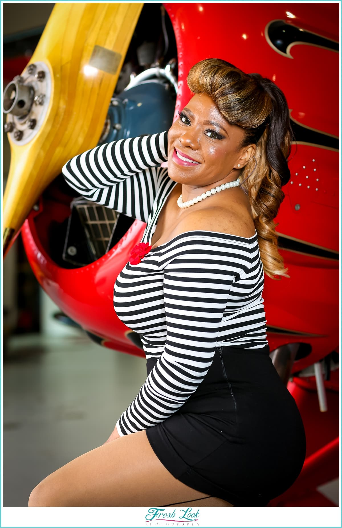 pin up photography at Military Aviation Museum